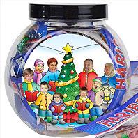 Personalised christmas sweetjars