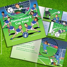 front cover and inside page of the Football Book