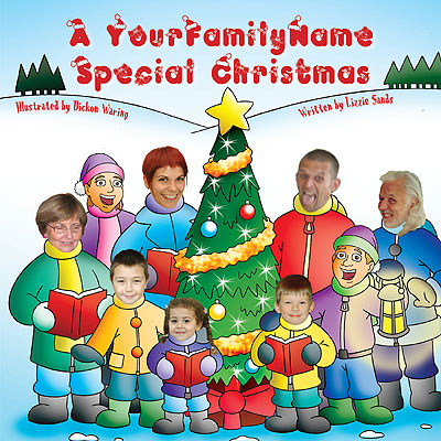 A Special Christmas, personalised family photo book for children