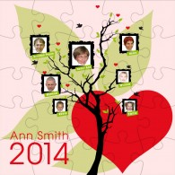 Family tree photo jigsaw personalised