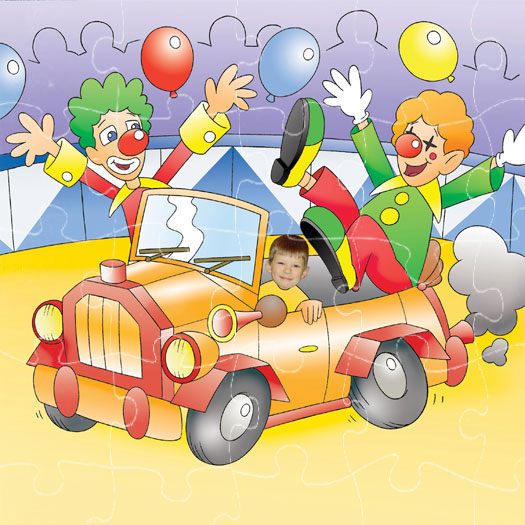 personalised-jigsaw-clown-car
