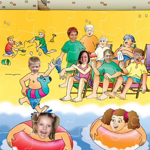 Family Seaside Holiday jigsaw