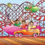 Seaside Fairground Ride jigsaw