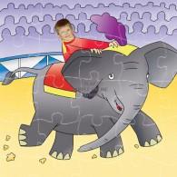 circus elephant jigsaw