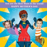 Super Mum personalised photo jigsaw