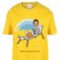 kids tshirt personalised photo beach chair seaside holiday