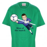 kids tshirt personalised photo gift football goalie