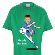 kids tshirt personalised photo gift football penalty