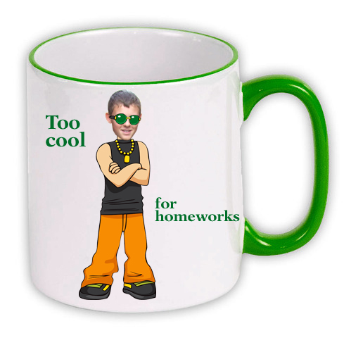 personalised Mug green hiphop boy photo gift