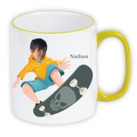 personalised-Mug green skateboard photo gift