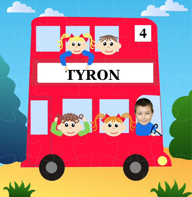 personalised-jigsaw-bus