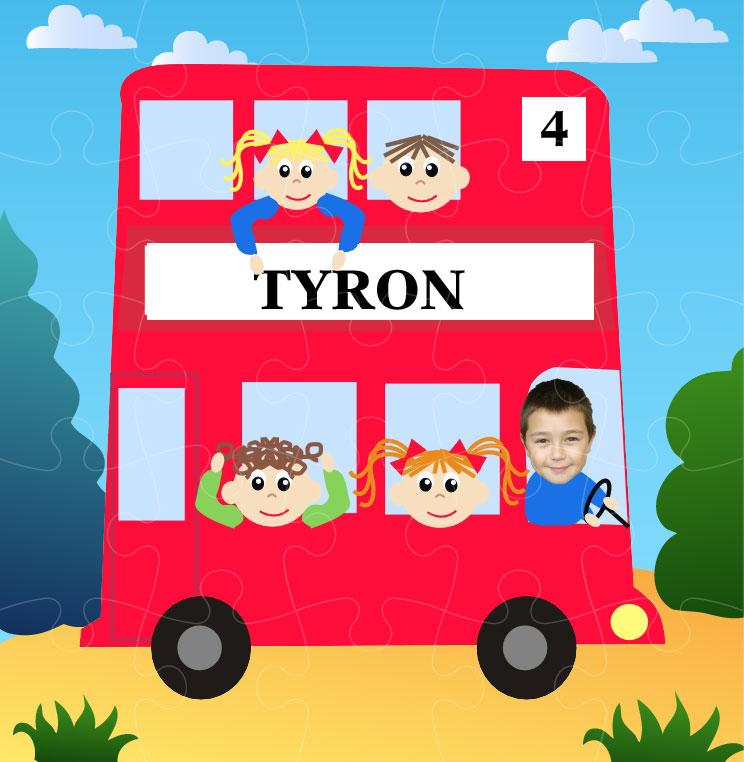 personalised-jigsaw-bus