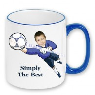 personalised mug football goalie photo gift