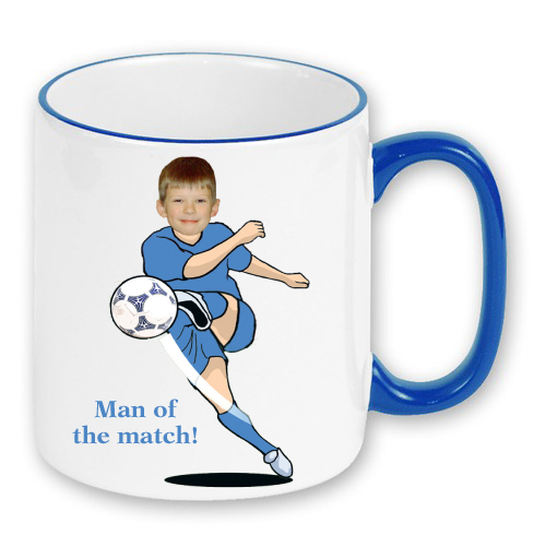 personalised-mug-football man of the match photo gift