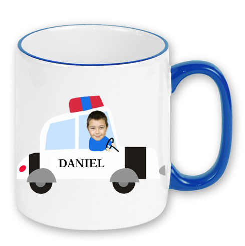 personalised mug police car photo gift