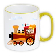 personalised mug train photo gift