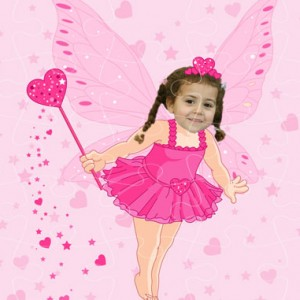 personalised wooden jigsaw fairy