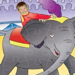 personalised-wooden-jigsaw-circus-elephant-ride