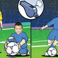 wooden jigsaw football penalty