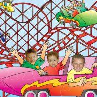 wooden jigsaw seaside fairground ride