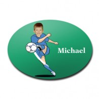 door plaque oval personalised photo gift football