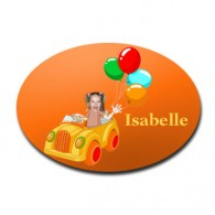 door plaque oval personalised photo gift clown car