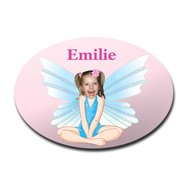 door plaque oval personalised photo gift fairy