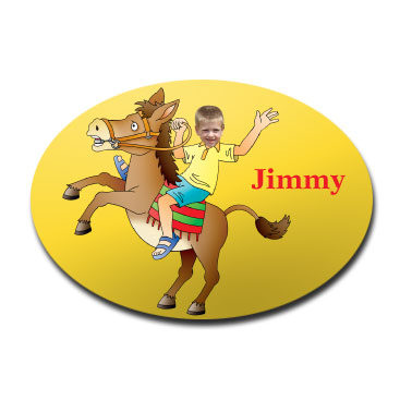 door plaque oval personalised photo gift horse riding