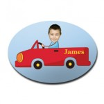door_plaque_oval_personalised_photo_gift-red-car
