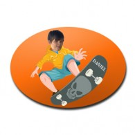 door plaque oval personalised photo gift skateboard