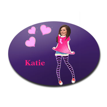 door plaque oval personalised photo gift teen girl