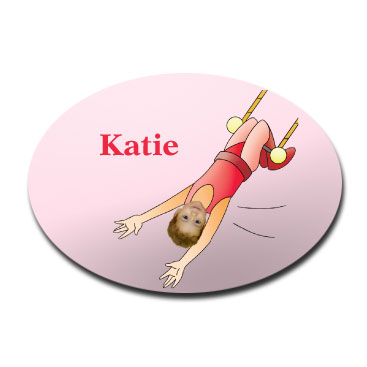door plaque oval personalised photo gift trapezist