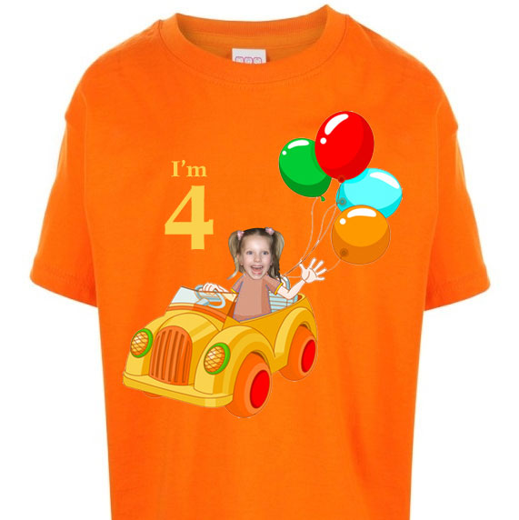 kids_tshirt_personalised_photo_gift-clown-car-birthday-girl-orange