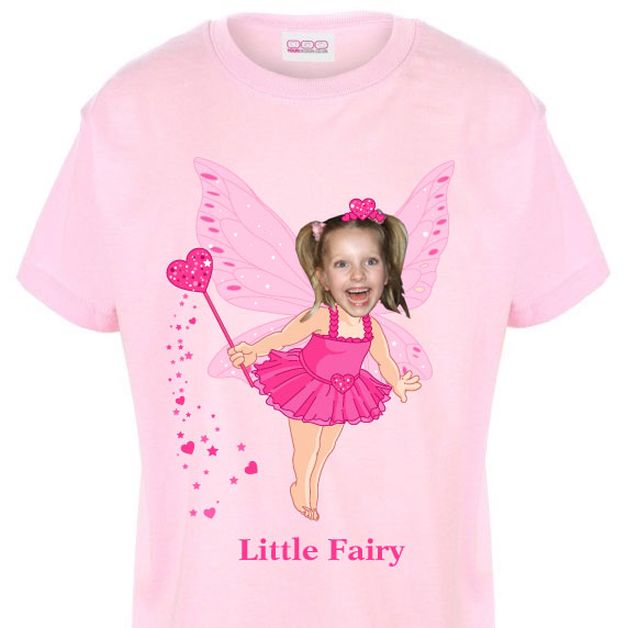 kids tshirt personalised photo gift fairy girl