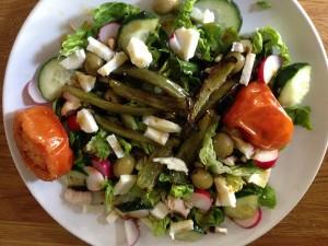 Barbeque left over salad