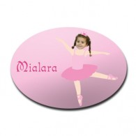 door plaque oval personalised photo gift ballerina B