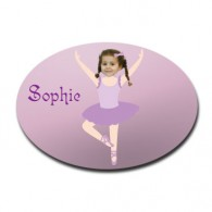 door plaque oval personalised photo gift ballerina