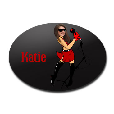 door plaque oval personalised photo gift rock star