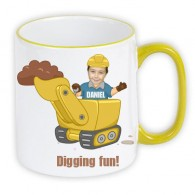 personalised Mug digger photo gift