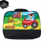 personalised lunch bag photo tractor