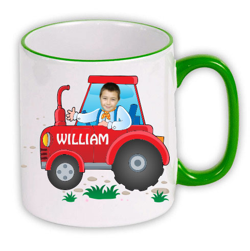 personalised mug tractor photo gift