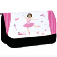 personalised pencil case ballerina