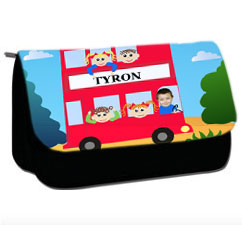 personalised pencil case bus
