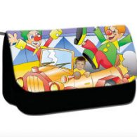 personalised pencil case clown