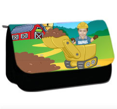 personalised pencil case digger