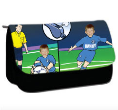 personalised pencil case football penalty