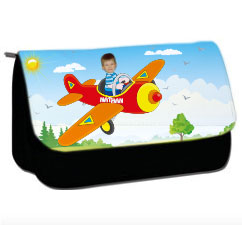 personalised pencil case plane