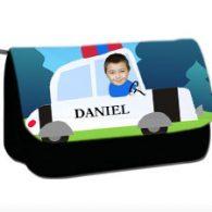 personalised pencil case police car