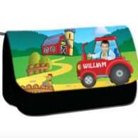 personalised pencil case tractor