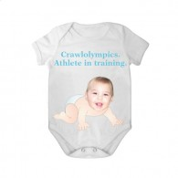 short sleeves babygrow white crawlolympic boy
